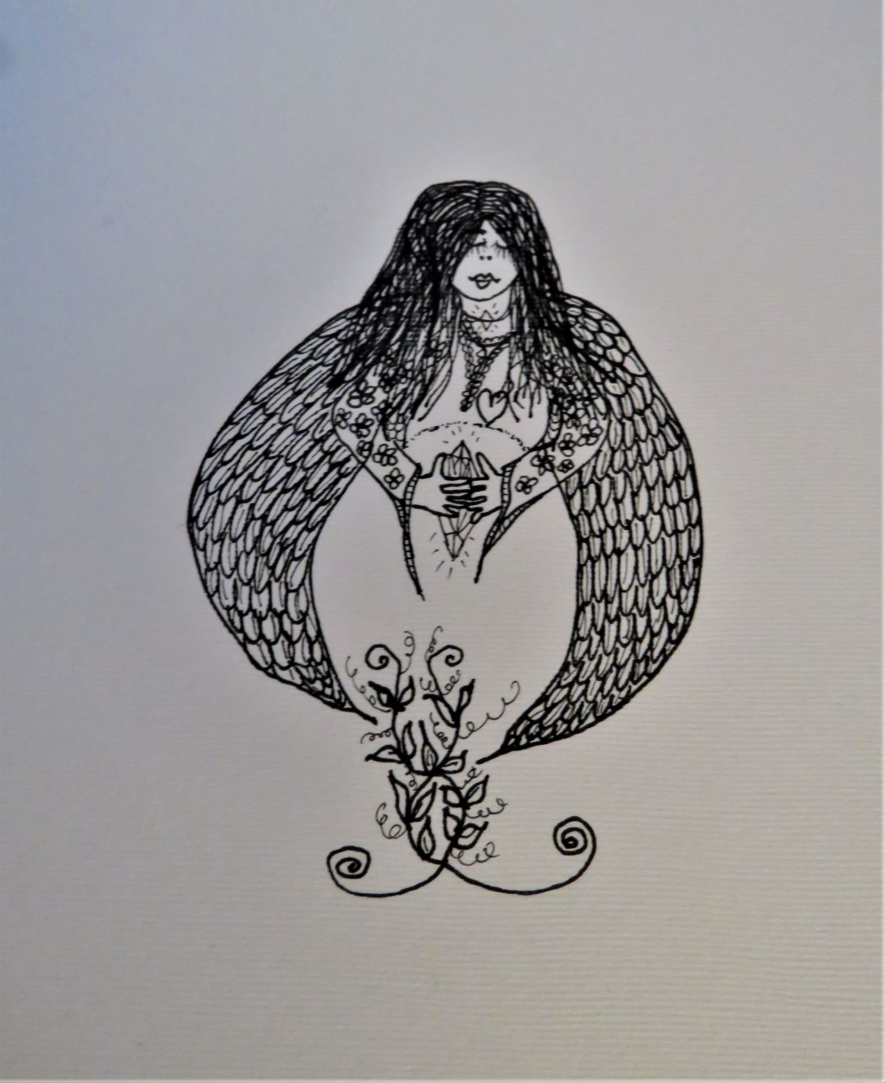 empress-gaia-pen-ink-marker-drawing-Eithne-Warren-https://insideheartspace.com