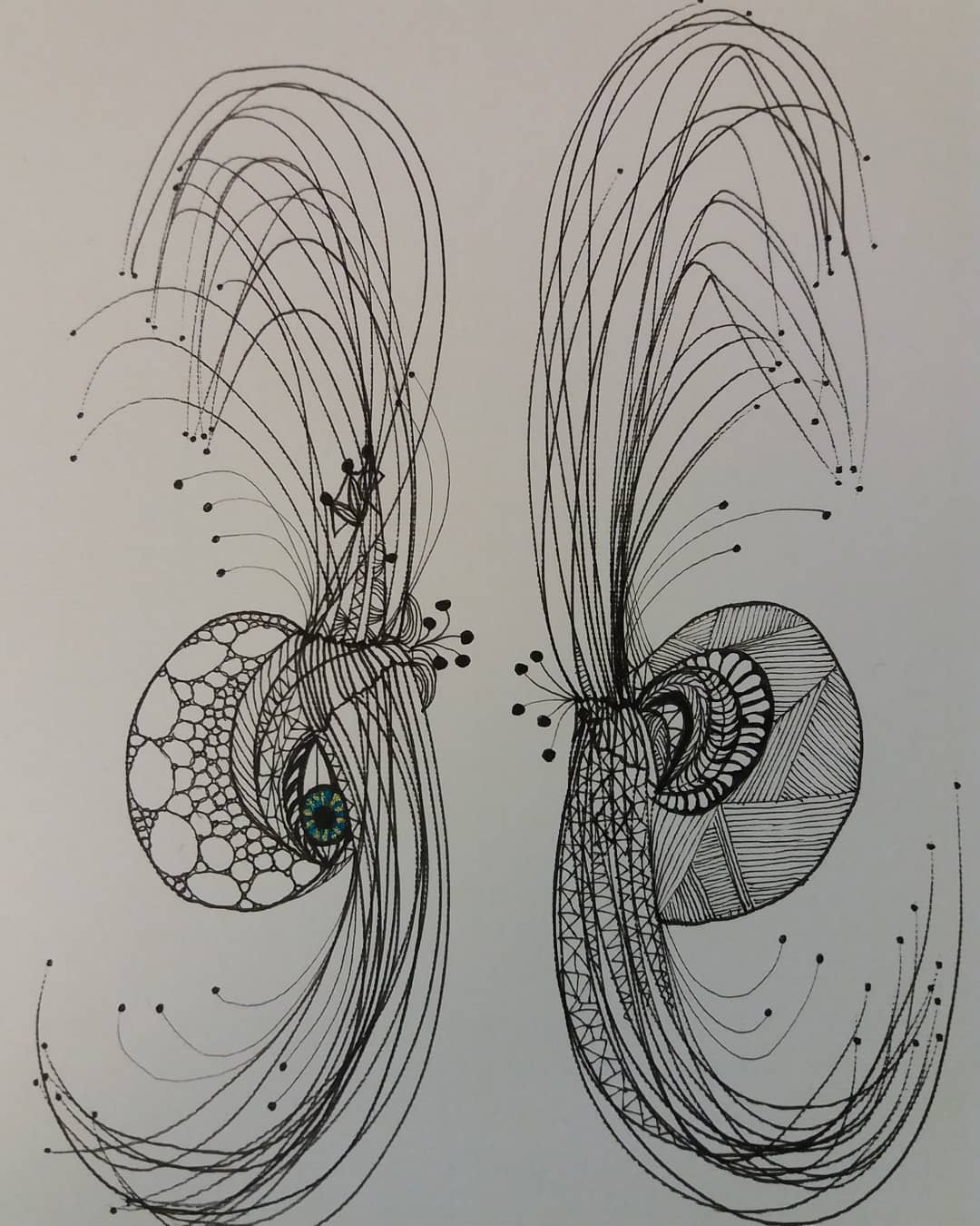 connection-vertical-pen-ink-marker-drawing-Eithne-Warren-https://insideheartspace.com
