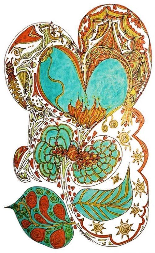 energetic art Eithne Warren Inside Heart Space Tarot Oracle
